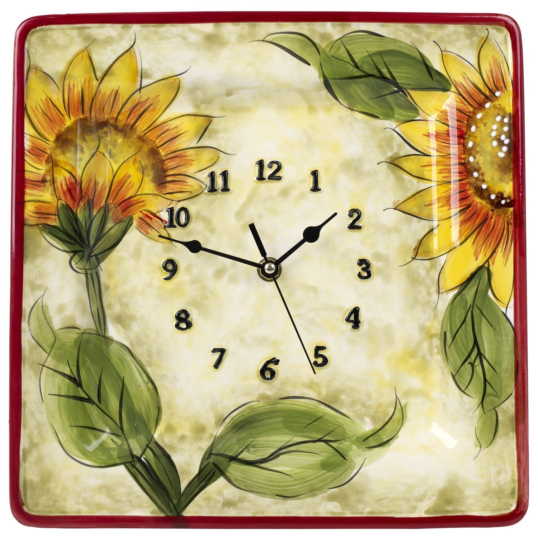 Amazon.com: Original Cucina Italiana Ceramic Decorative Wall Clock ...