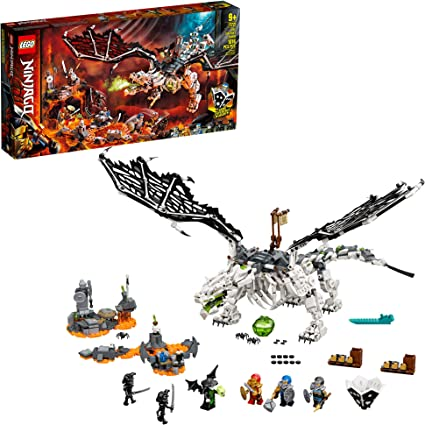 LEGO NINJAGO Skull Sorcerer's Dragon 71721 NINJAGO Dragon Set Featuring Warrior Toy Figures, New 2020 (1,016 Pieces)