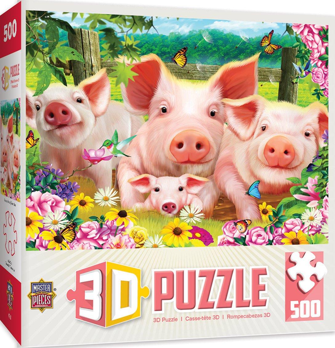 Masterpieces Linsenraster Ferkel Patch 500-teiliges 3D Puzzle von Michael Searle Masterpieces Puzzle Co. 31685