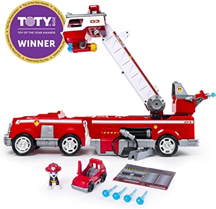 Paw Patrol Ultimate Rescue MARSHALL Mini Fire Cart Puppy /& Fire Cart Toy Set New