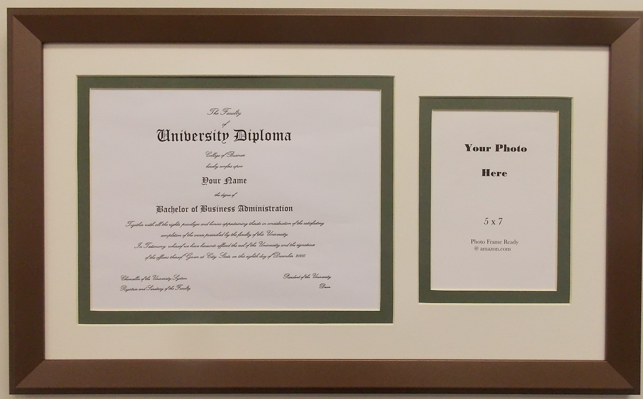 Graduation Diploma University 8.5 X 11 Certificate Photo Matted Frame with 5x7 Photo Opening by Photo Frame Ready (Image #1)