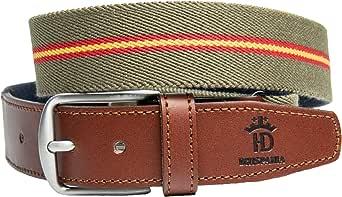 RAU Cinturón bandera de España elástico y terminaciones en piel.(ES AJUSTABLE VALE DESDE LA TALLA 90 A LA 120): Amazon.es: Ropa y accesorios