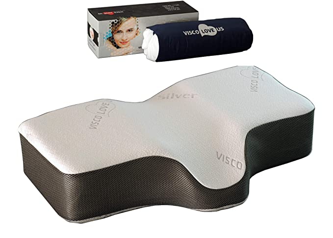 VISCO LOVE Celliant Sleep Memory Foam Pillow - The Therapeutic and Supportive