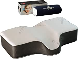 Silver Sleep Therapeutic Wellness (Large Adult) Memory Foam Pillow by VISCO LOVE US LLC.