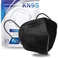 KN95 Face Mask 20 PCS, Filter Efficiency≥95%, 5 Layers Cup Dust Mask Against PM2.5 from Fire Smoke, Dust, for Men, Women…