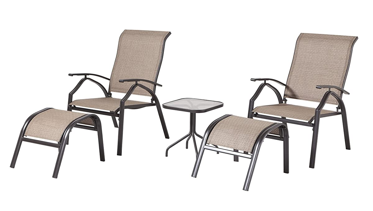 Backyard Classics Astoria 5 Piece Patio Seating Set With
