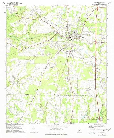 Map Of Vienna Georgia.Amazon Com Yellowmaps Vienna Ga Topo Map 1 24000 Scale 7 5 X 7 5