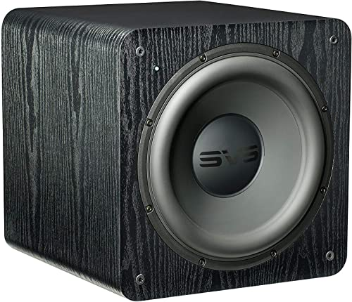 SVS SB-2000 Subwoofer Black Ash 12-inch Driver, 500-Watts RMS, Sealed Cabinet