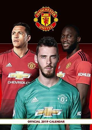 Utd Calendar 2019 Manchester United Official 2019 Calendar   A3 Wall Calendar