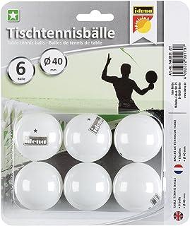 Idena 7440021 - Tischtennisbälle 1 Stern, mehrfarbig