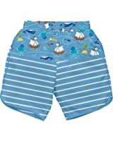 i play. Baby & Toddler Boys' Board Shorts with Built-In Reusable Absorbent Swim Diaper