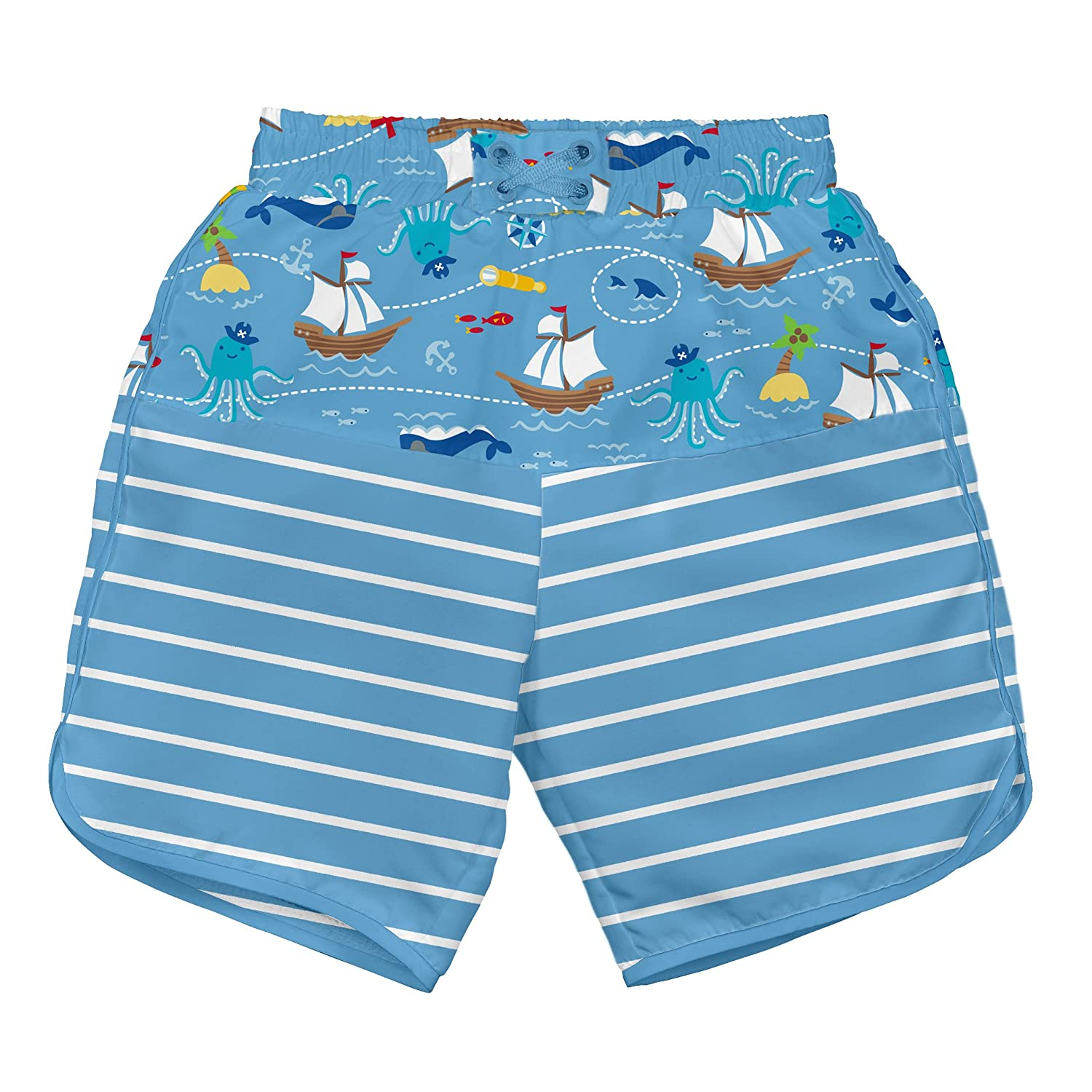 i play. Baby Boys' Board Shorts with Built-in Reusable Absorbent Swim Diaper i play Children's Apparel