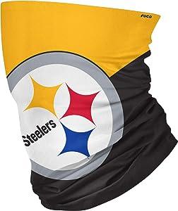 FOCO Unisex-Adult NFL Big Logo Multi-Use Neck Gaiter