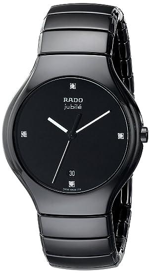 78a7f9da708 Rado Men s R27653742 True Jubile Analog Display Swiss Quartz Black Watch   Amazon.ca  Watches