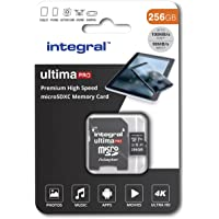 Integral 256GB micro SD card Premium 4K High Speed memory microSDXC Up to 100MB/s V30 UHS-I U3