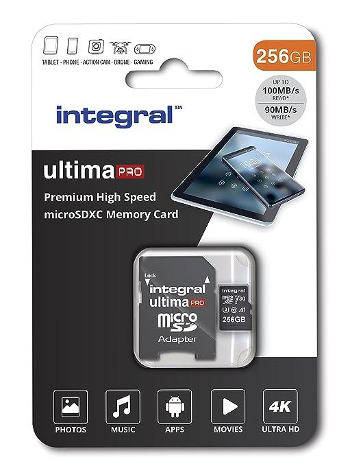 Integral INMSDX256G-100/90V30 Ultimapro Micro SDXC Class 10 UHS-I U3 - microSDXC
