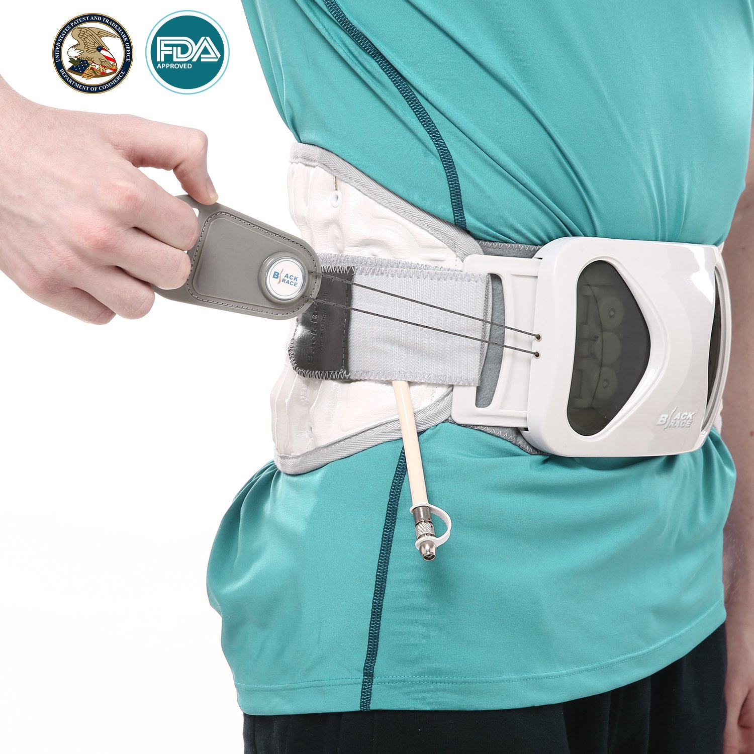 Hangsun Back Decompression Lumbar Traction Belt for Lower Back Pain Relief, Patented FDA Approved Lumbar Support Belt Medical Inflatable Back Brace (#M: 30-38 inches)