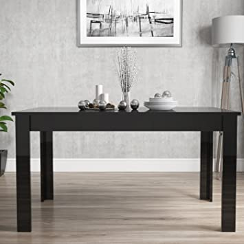 76c0ffaf0b83 Vivienne Extending Black High Gloss Dining Table  Tonka  Amazon.co.uk   Kitchen   Home