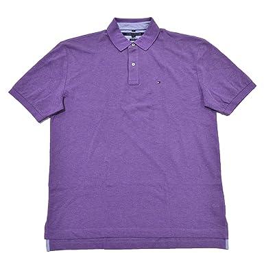 0c2b004f4 Tommy Hilfiger Mens Classic Fit Mesh Polo (Purple Heart, Medium) at ...