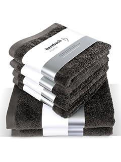 Herzbach inicio lujo toalla Set Premium calidad procedentes de 100% Algodón 4 toallas 50x100 cm 2 Duschtücher 70 x…