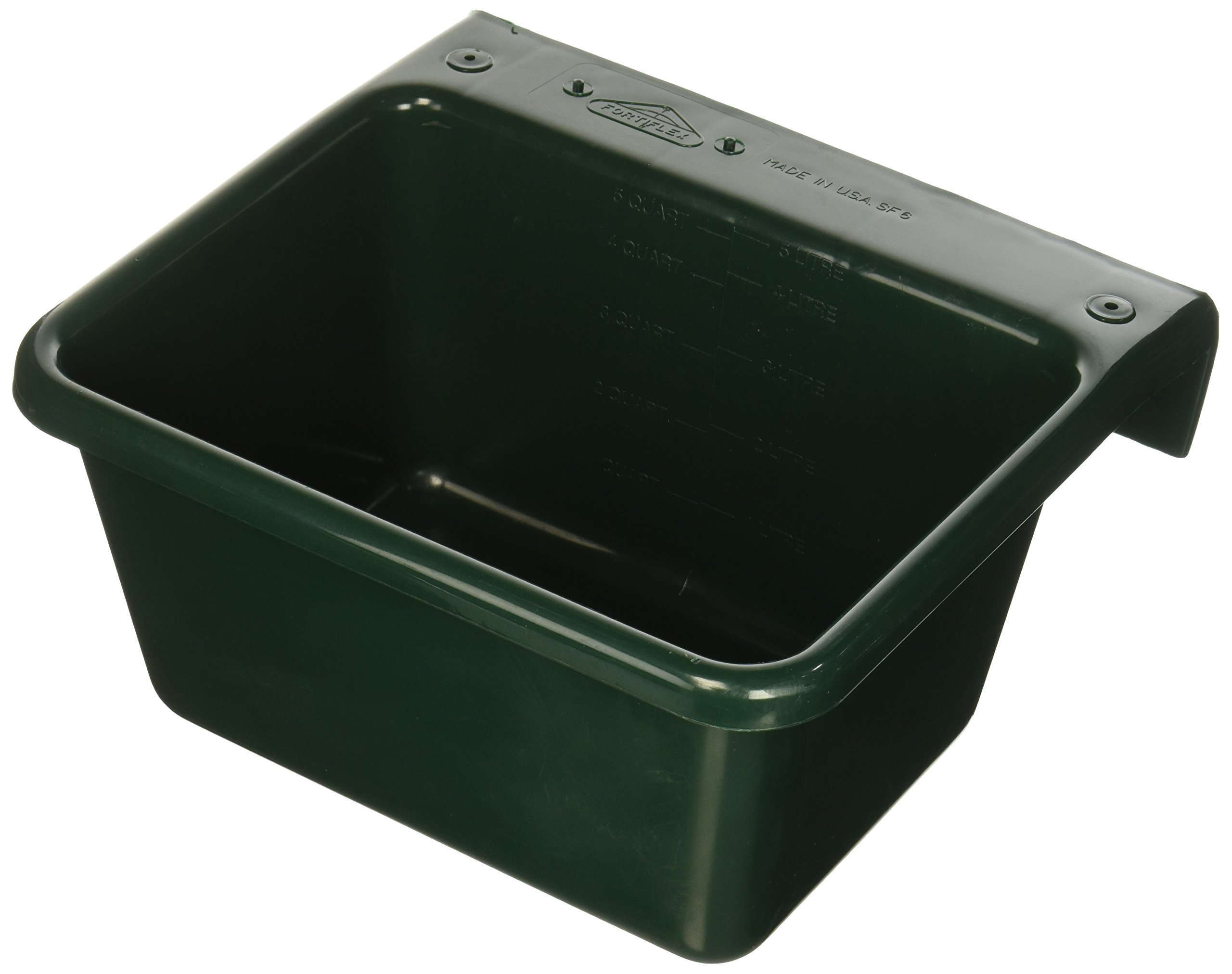 Fence Feeder - 6 Quart Color: Dark Green by FORTEX INDUSTRIES