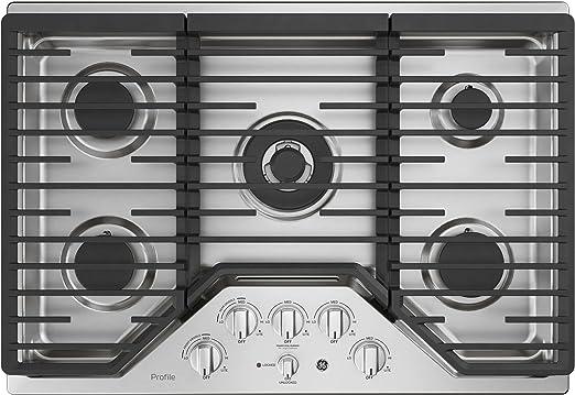 Amazon.com: GE Perfil pgp9030slss 30 inch quemador de gas ...