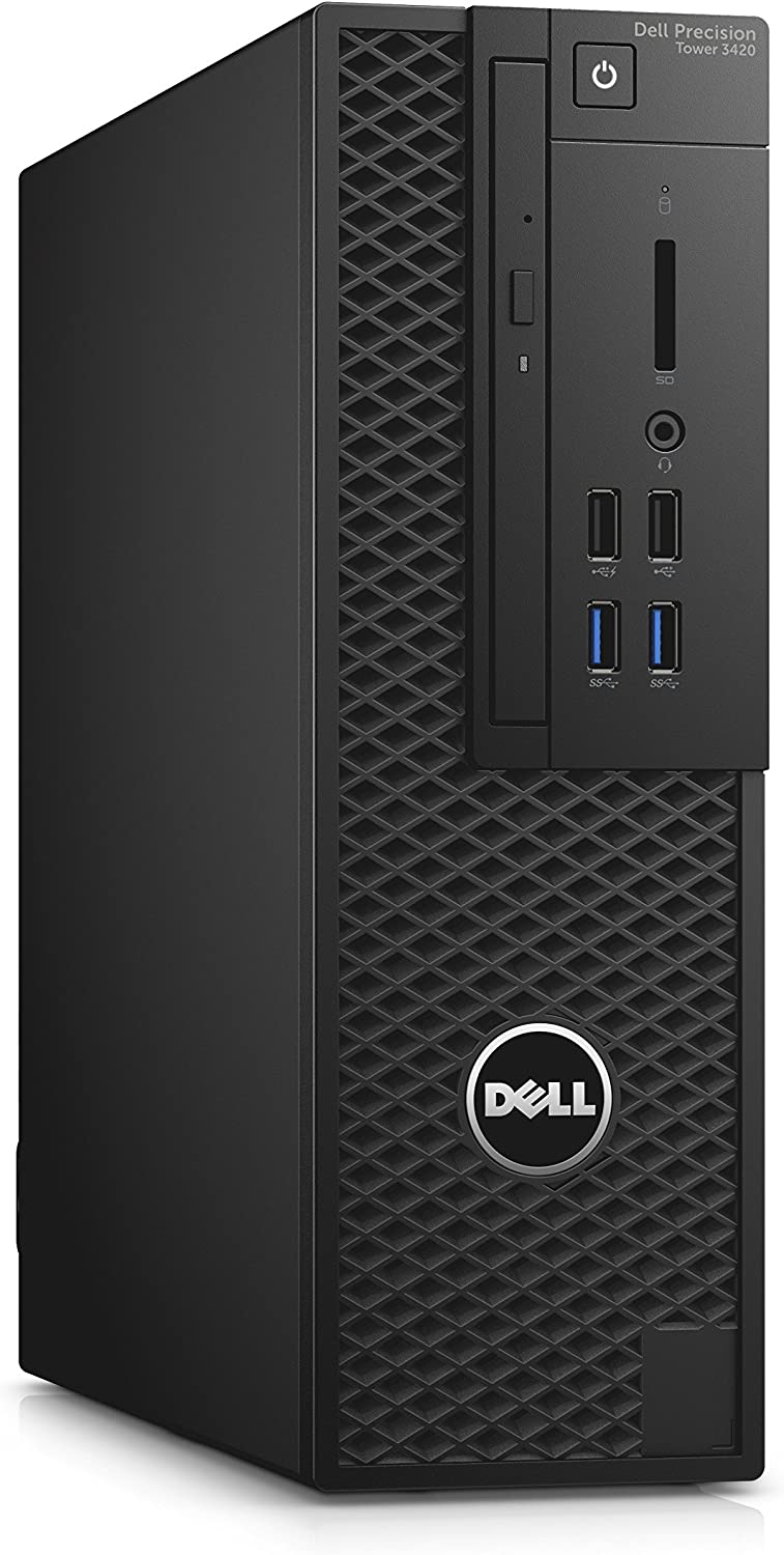 Dell W4WVY Precision 3420 SFF Workstation PC with Intel Xeon E3-1240, 16GB RAM, 256GB SSD, Black