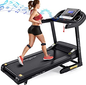 DR.GYMLEE Folding 3.5 HP Treadmill 320 LB Capacity for Home, 15% Auto Incline Running Machine with & Strong Shock Absorption, Easy Assembly & Space Saver for Home Office Workout