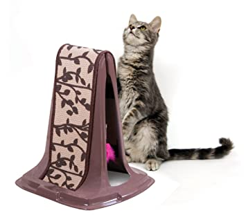 petmate jute cat scratch post lean on me