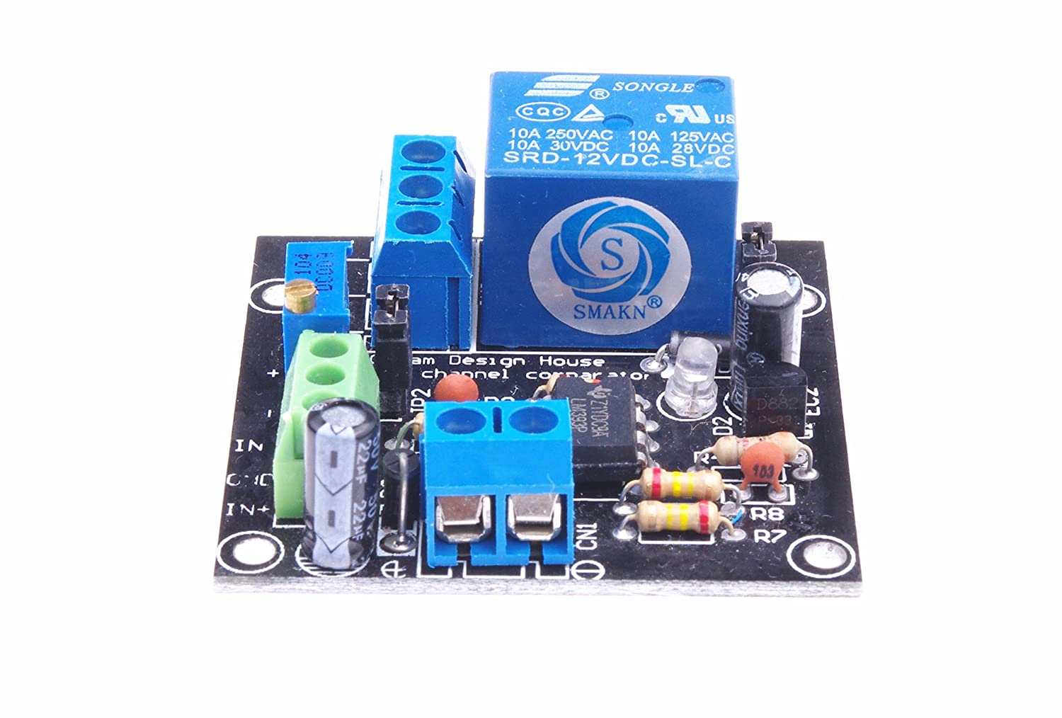 Smakn Dc 12v 1 Channel Voltage Comparator Lm393 Circuit Battery Charger Picture Of Good Electronic Module New Home Audio Theater