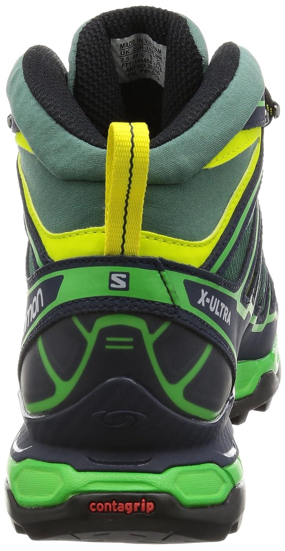 Salomon X Ultra Mid 2 GTX, Botas para Hombre, Verde (Bistro Navy Blazer/Green Glow), 48 EU: Amazon.es: Zapatos y complementos