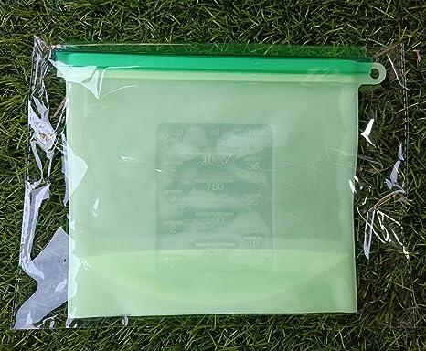 Bolsas de alimentos reutilizables de silicona, bolsas de ...