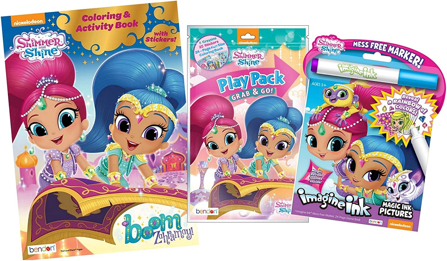 Amazon.com: Bundle Of 3 Shimmer And Shine Coloring & Activity