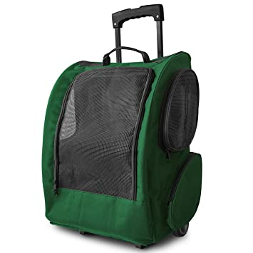 Amazon.com : OxGord Dog Pet Carrier Rolling Backpack Cat Easy Walk ...