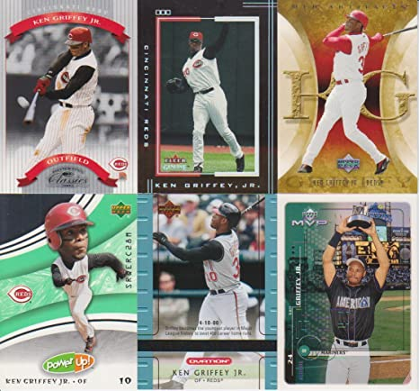 078413c5c5 Image Unavailable. Image not available for. Color: Ken Griffey Jr. 6 Card  Lot Genuine #13 ...