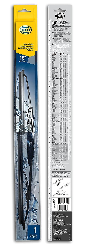 Amazon.com: HELLA 9XW398114018/I Standard Wiper Blade, 18