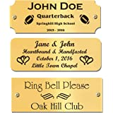 "1.5"" H x 4"" W, Custom Engraved Solid Brass Name Plates, Polished Finish, Personalized Tags, Nameplate Memorial, Made in USA ("