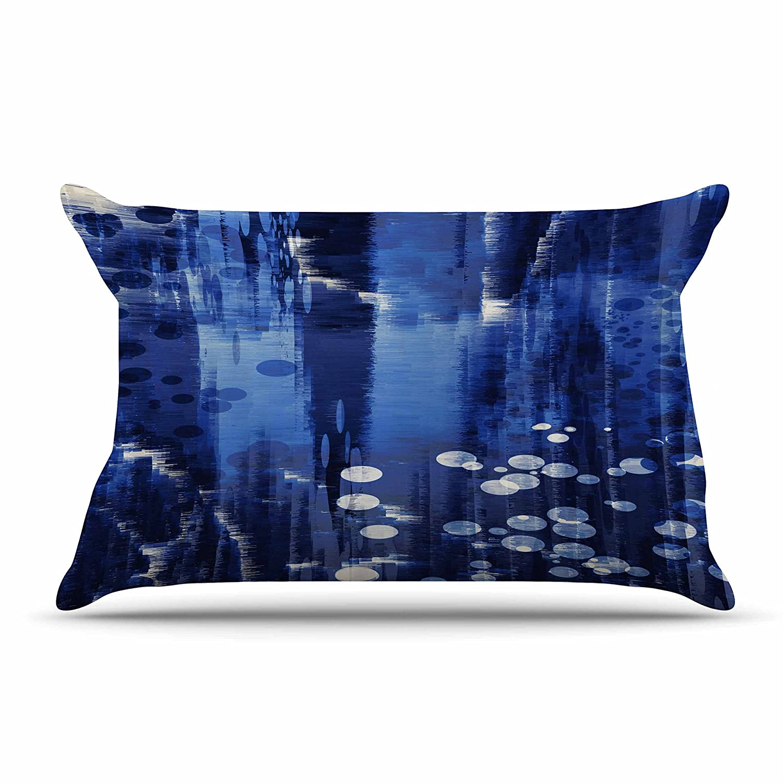 Kess InHouse Blue Extract Pillow Sham 40 x 20
