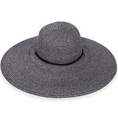 Sun N  Sand UPF Sahara Sun Wide Brim Hat with Chin Cord (Black) at ... f1d56ec4bd9