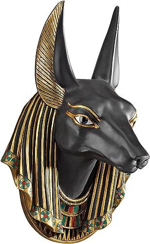 Design Toscano CL52612 Anubis the Jackal God Wall Egyptian Wall Sculpture