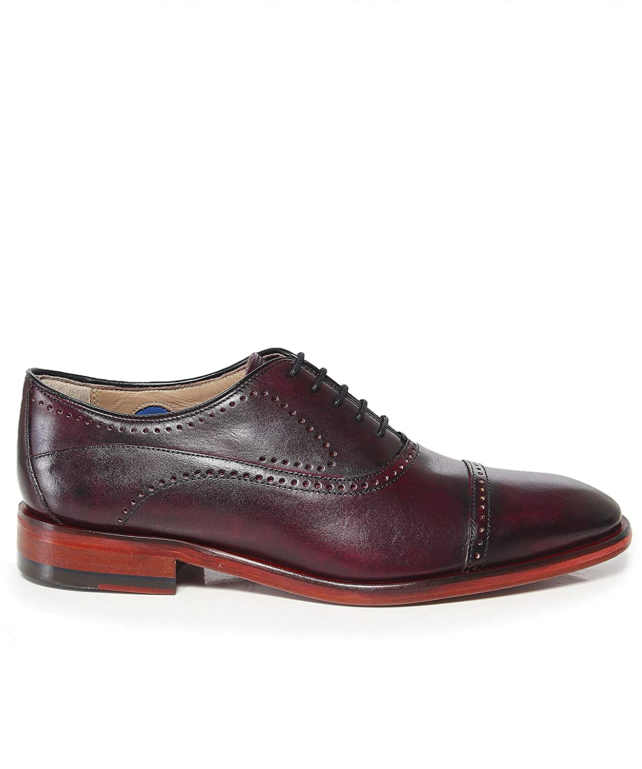 Oliver Sweeney Mens Leather Mallory Oxford Shoes Burgundy