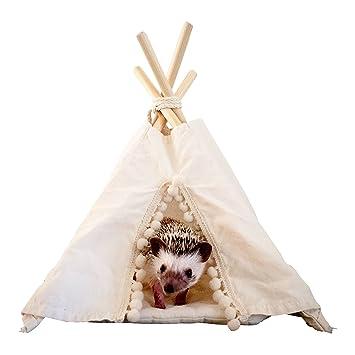 Hedgehog Teepee con una almohadilla, cobaya, pequeña mascota, pequeña casa de mascotas, cama para mascotas, tía para mascotas, teepee, tepee: Amazon.es: ...