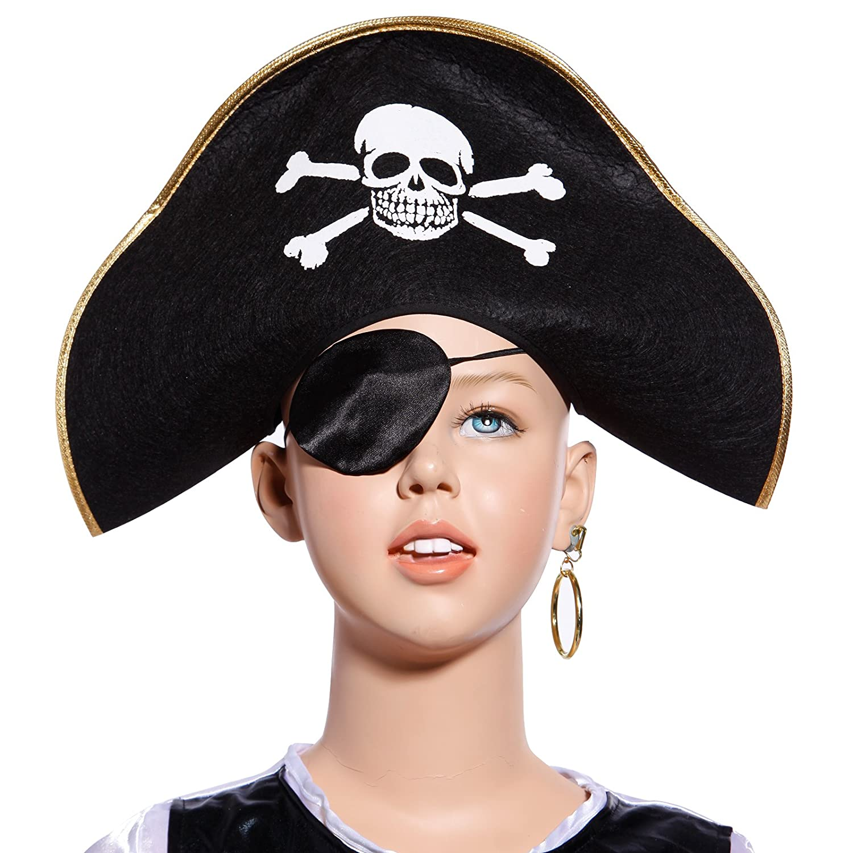 SurePromise Unisex Pirate Eye Patch Eyepatch Fancy Dress Costume Accessory