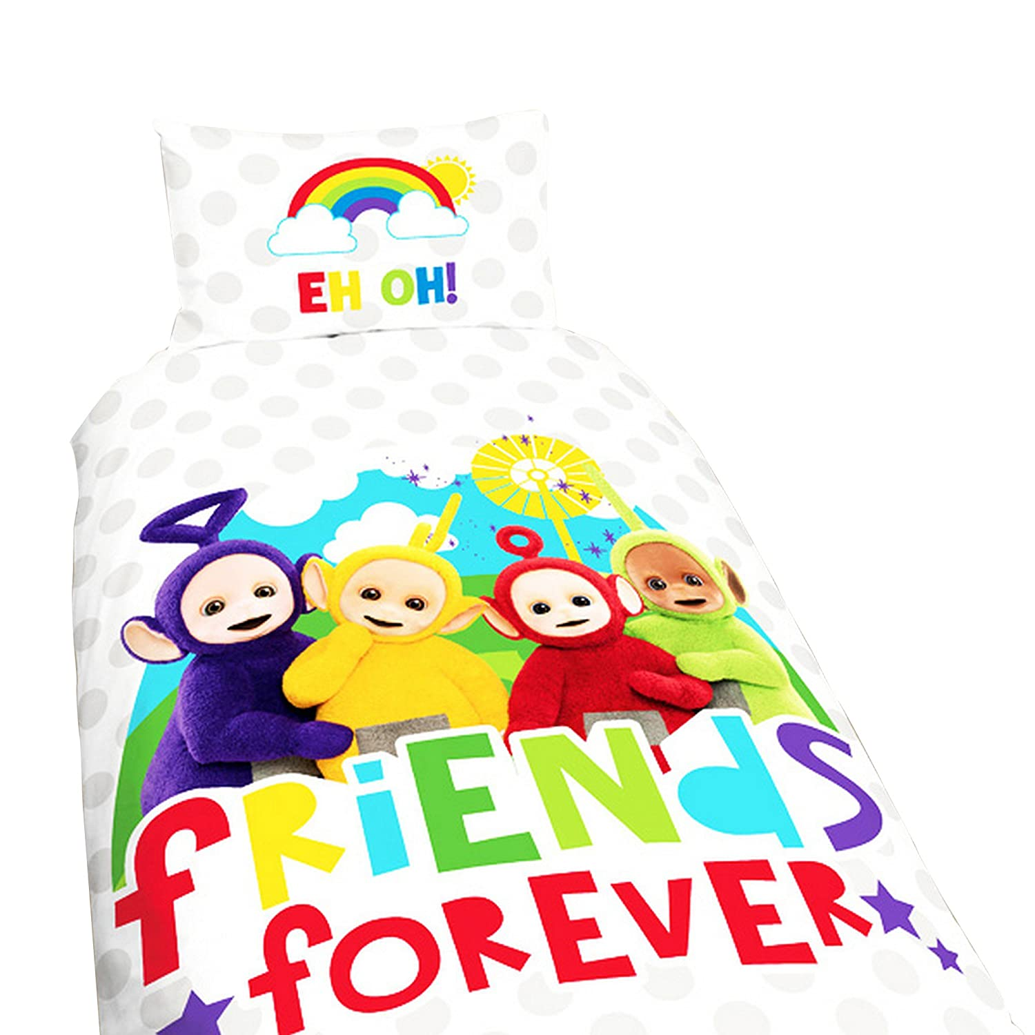 Teletubbies Childrens/Kids Official Playtime Reversible Single Duvet (Twin) (Multicoloured) UTSG8151_1