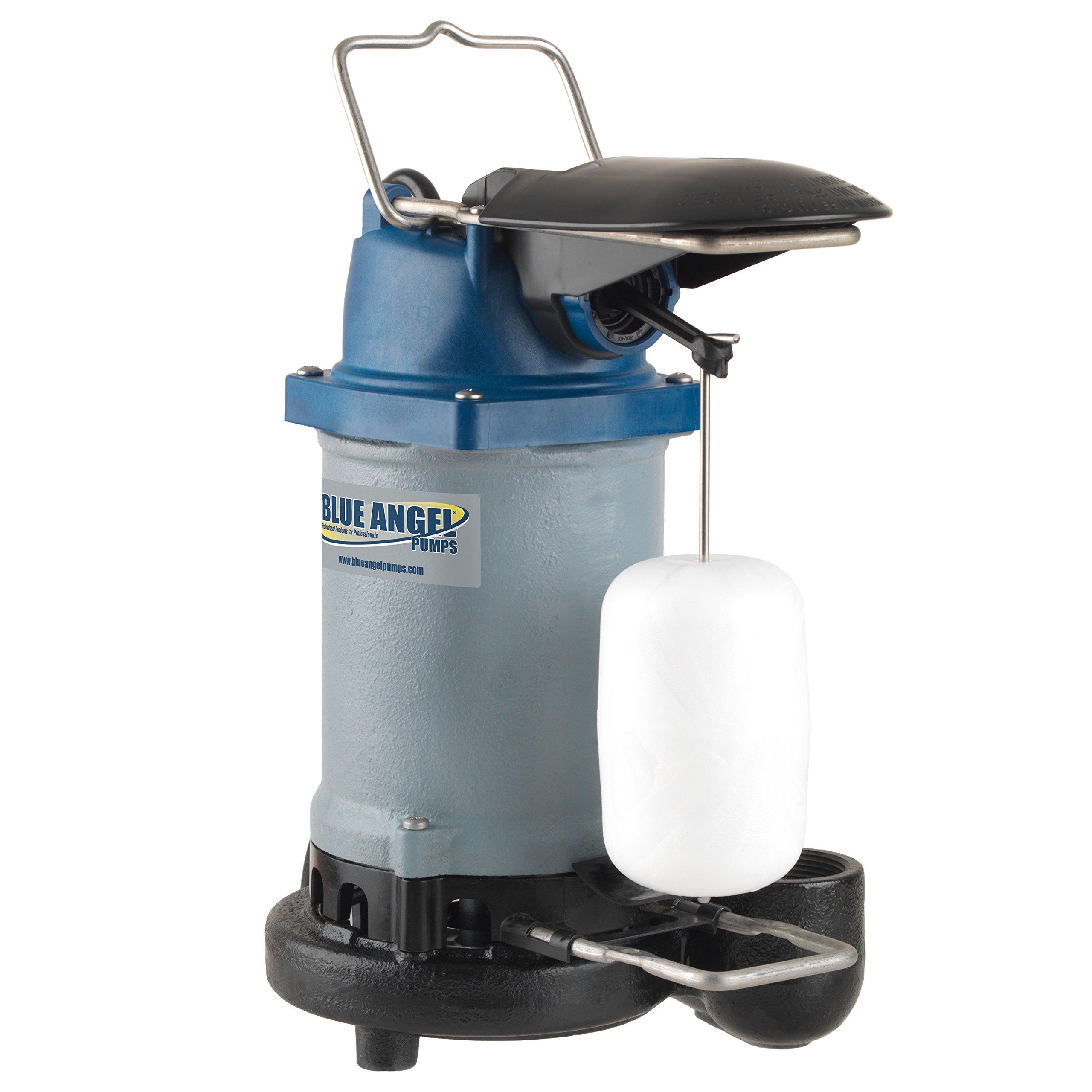 Blue Angel Pumps F50S 1/2 HP Professional Series Submersible Cast Iron Sump Pump