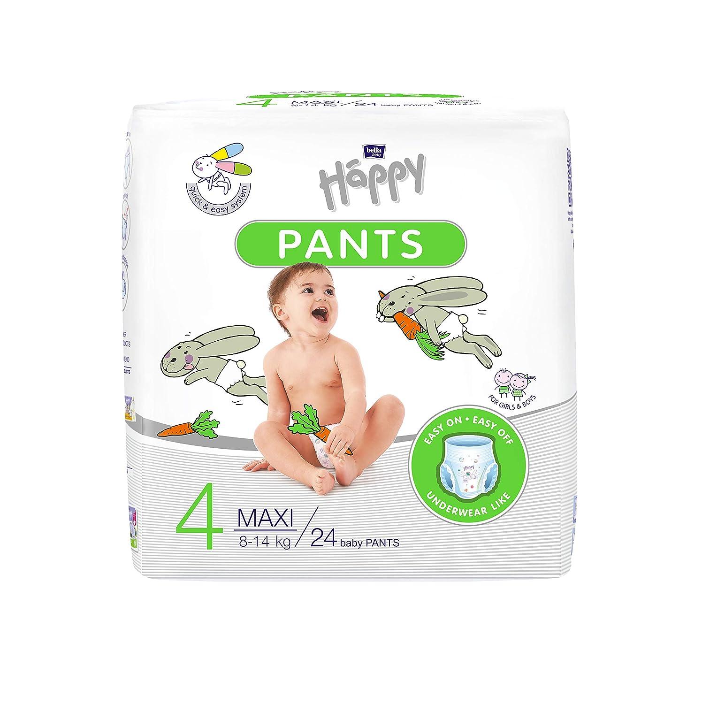 Bella Baby Happy Pants Gr/ö/ße 4 Maxi 8-14 Kg im 4er Pack 24 St/ück