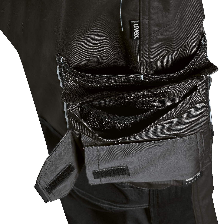 Blu Molte Tasche Laterali Uvex Tune-up 8909 Pantaloni da Lavoro con Velluto Resistente alle Abrasioni Grigio Tasche Cordura Cuscinetti alle Ginocchia Nero Verde