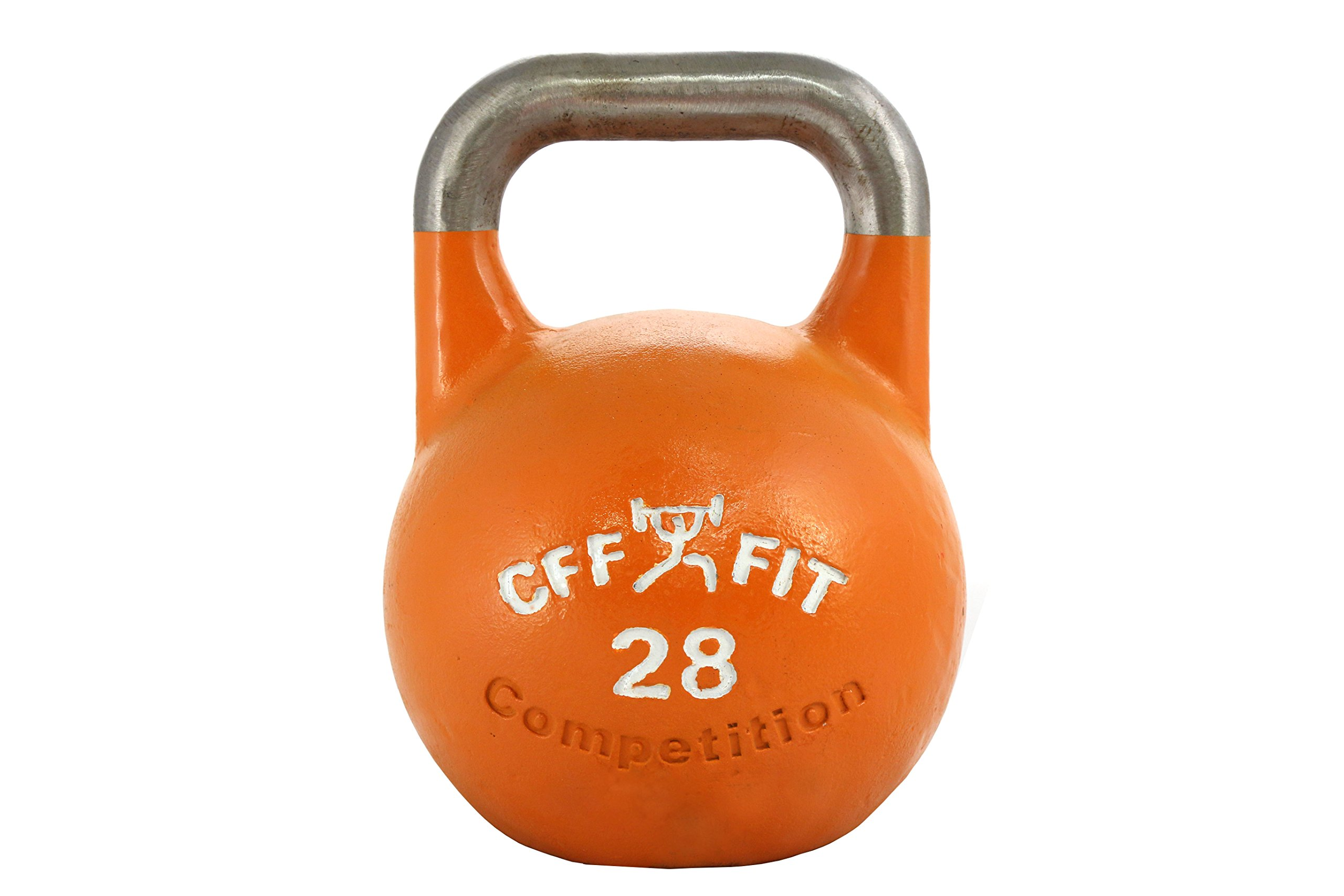 CFF Pro Competition Russian Kettlebell, Orange, 28 kg