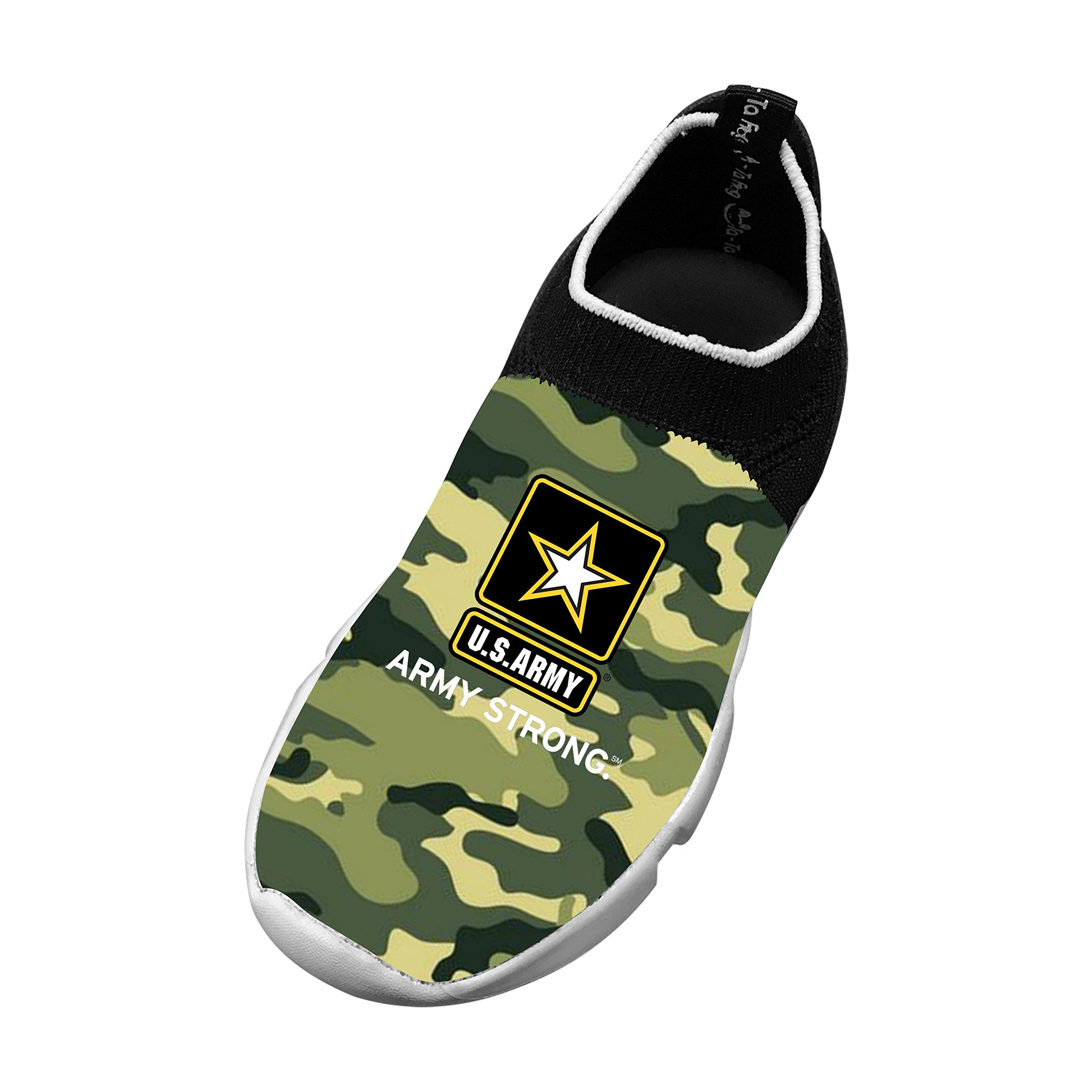 New Fashion Flyknit Shoe 3D Personalized With Army Logo For Unisex Kids