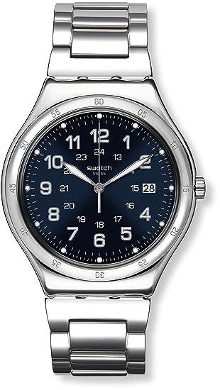 Swatch Reloj Digital de Cuarzo para Hombre con Correa de Acero Inoxidable - YWS420G: Amazon.es: Relojes